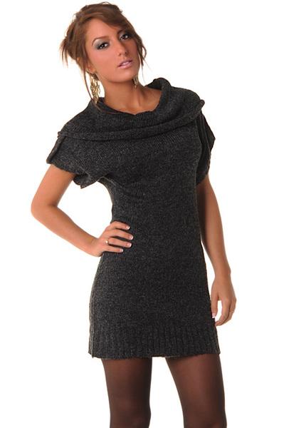 Excellente qualité nouvelle arrivee rencontrer robe pull manches courtes col large - Boutique flomode.wifeo.com